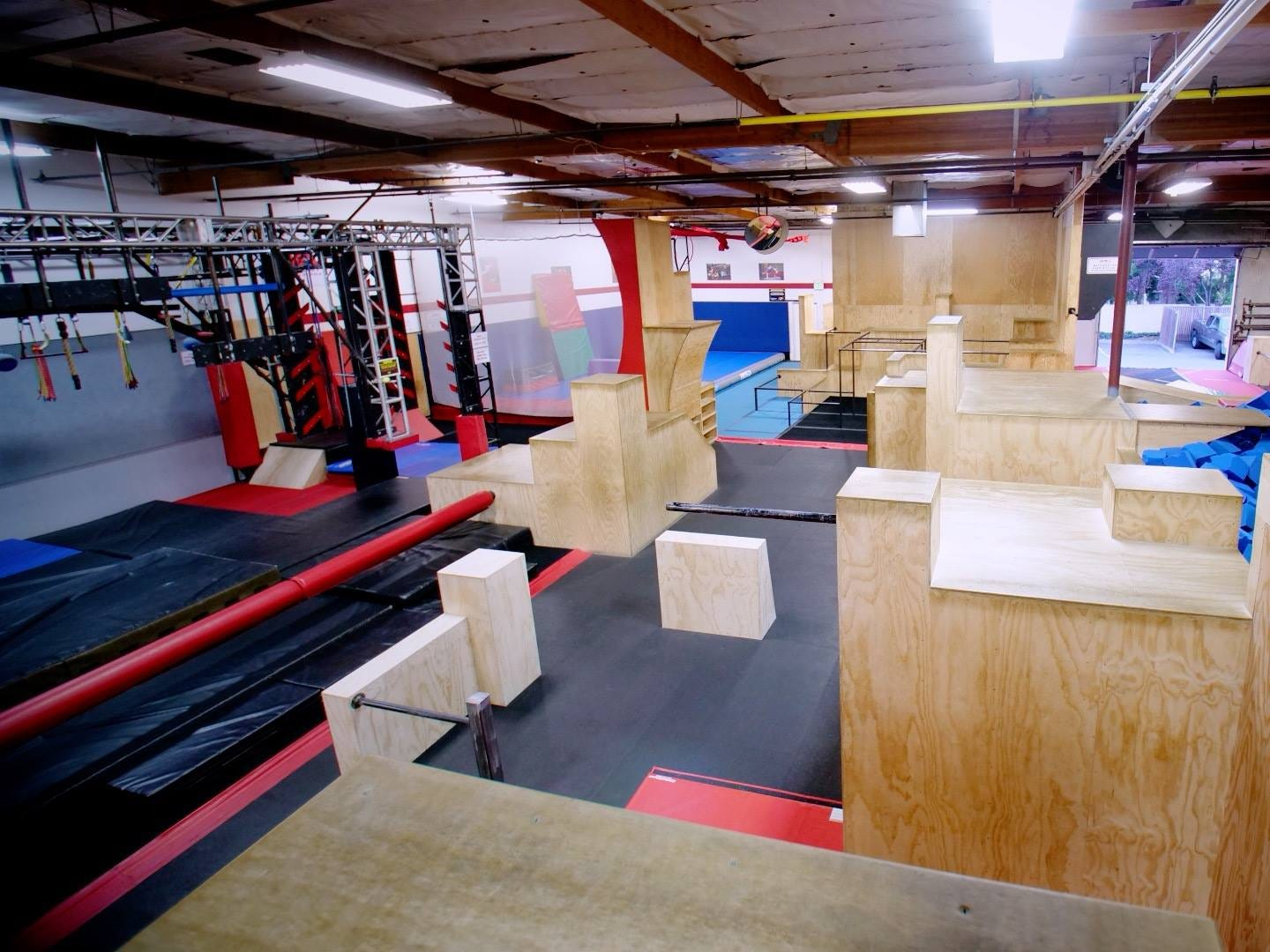 The APEX School of Movement Norcal in Concord, California, was one of the first to feature show-quality obstacles.