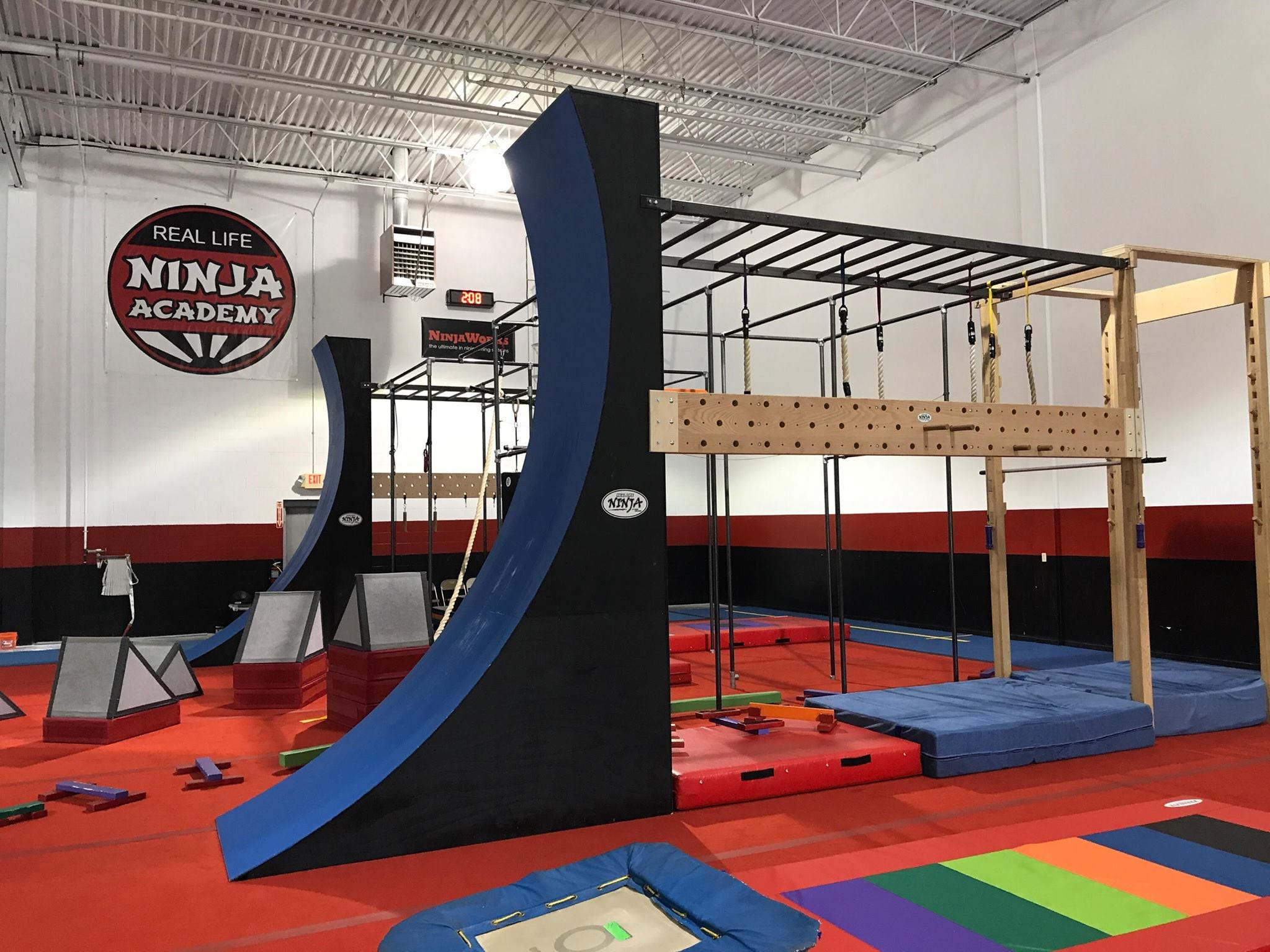 Real Life Ninja Academy in Windsor, Connecticut, features cutting-edge obstacles, which are even available for sale.
