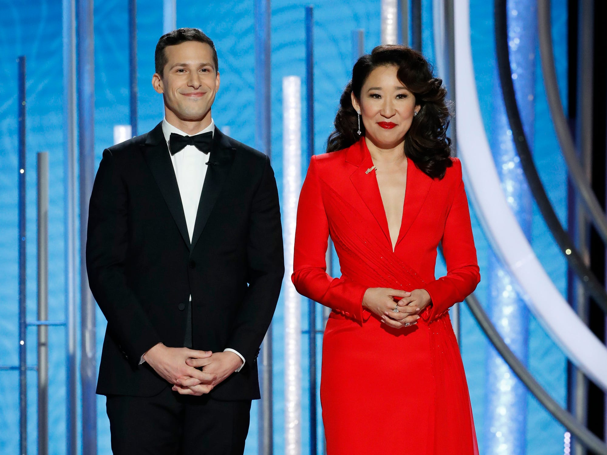 Andy Samberg and Sandra Oh host the 76th Golden Globe Awards.