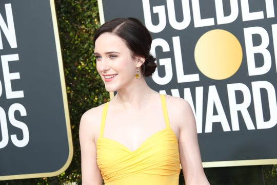"Rachel Brosnahan won TV comedy actress at the Golden Globes as ""The Marvelous Mrs. Maisel."""