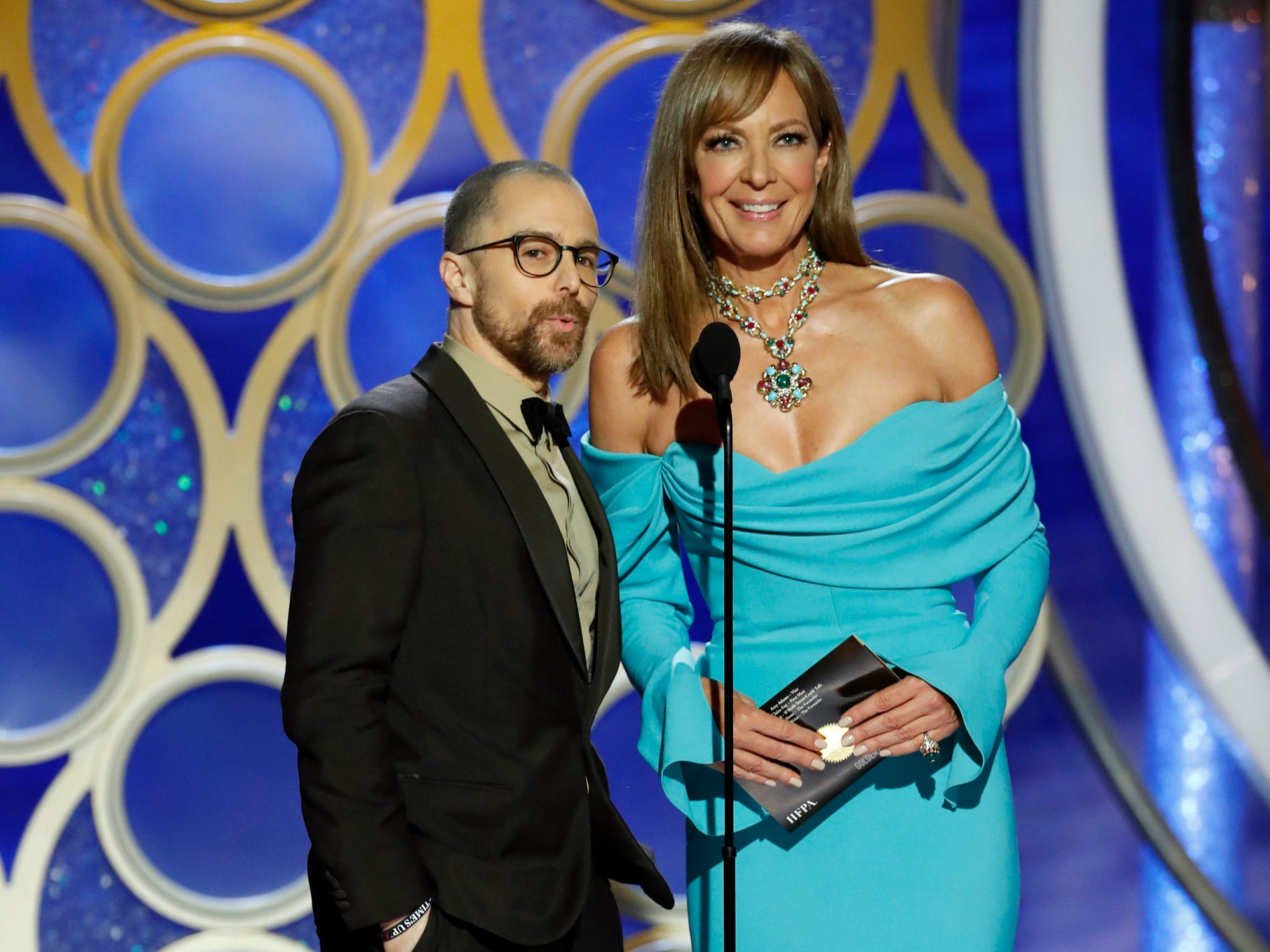 Sam Rockwell and Allison Janney present during the 76th Golden Globe Awards.