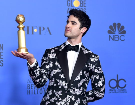 "Darren Criss won a Golden Globe Sunday for his portrayal of Andrew Cunanan in FX's ""The Assassination of Gianni Versace: American Crime Story."""