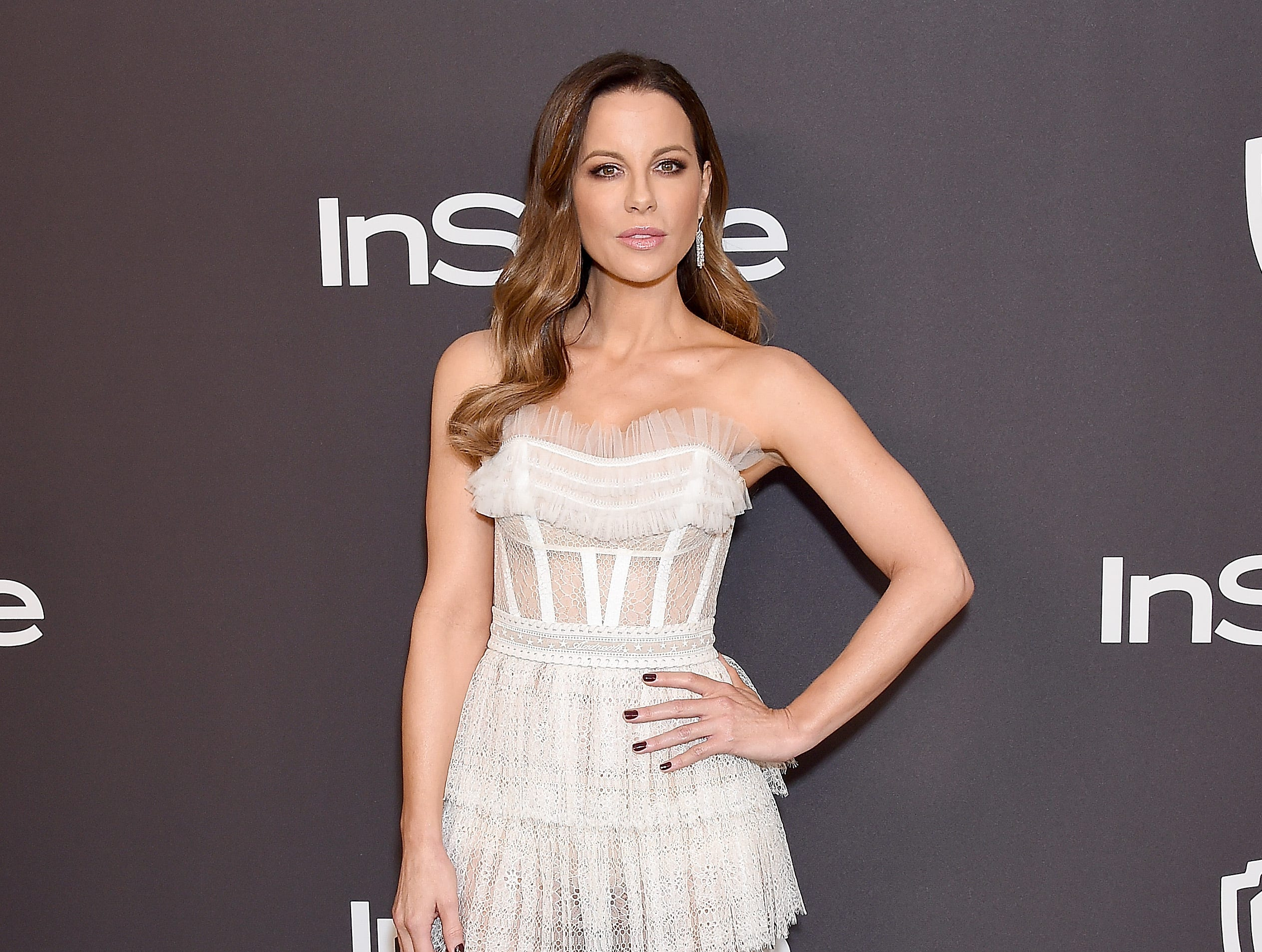 BEVERLY HILLS, CA - JANUARY 06:  Kate Beckinsale attends the InStyle And Warner Bros. Golden Globes After Party 2019 at The Beverly Hilton Hotel on January 6, 2019 in Beverly Hills, California.  (Photo by Gregg DeGuire/WireImage) ORG XMIT: 775268365 ORIG FILE ID: 1078656386