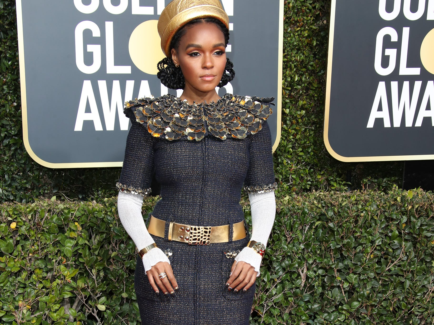 Janelle Monae arrives.