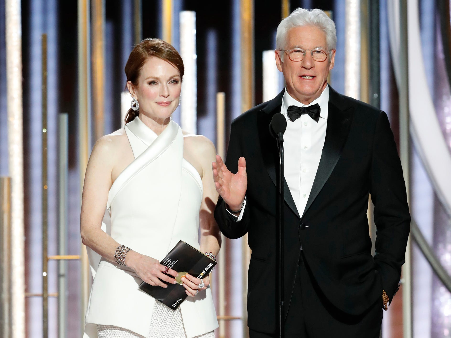 Julianne Moore and Richard Gere during the 76th Golden Globe Awards.
