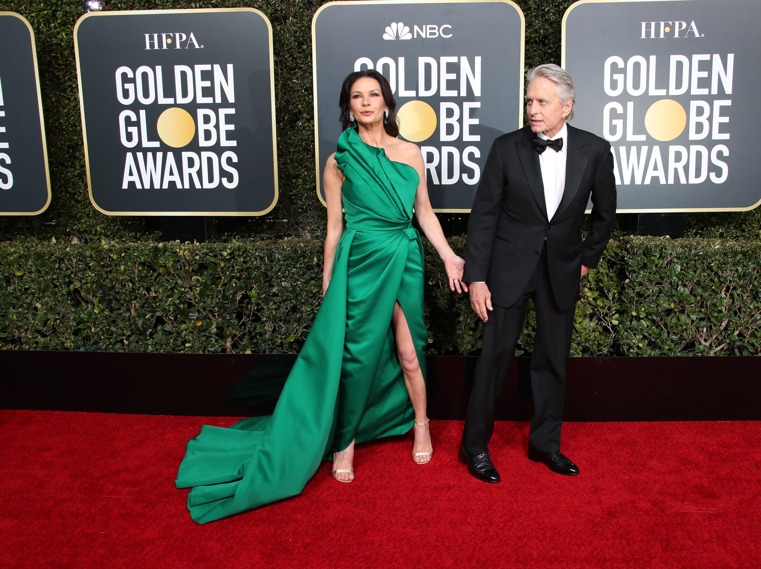 Catherine Zeta-Jones, left and Michael Douglas