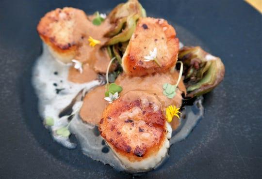Fresh scallops at Sel, a popular French restaurant in Scottsdale, Arizona.