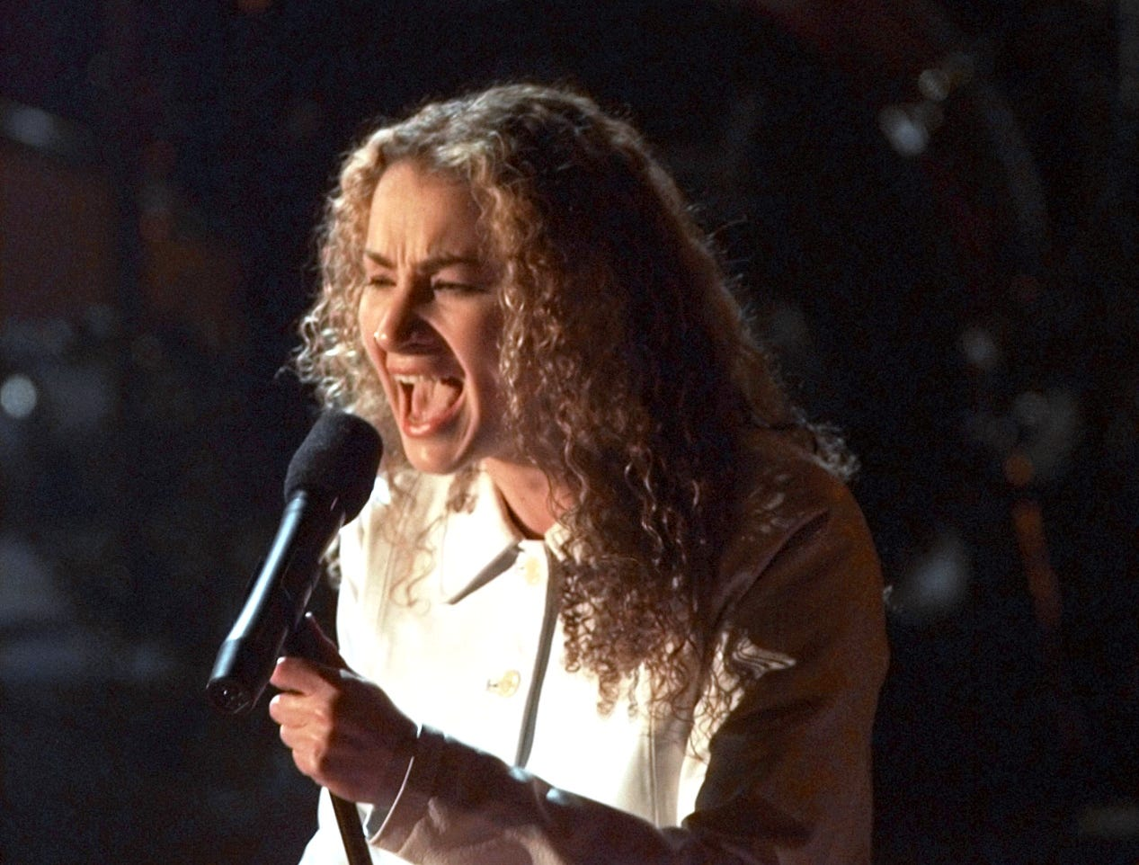 """Joan Osborne asked the enduring question """"What if God was one of us?"""" in her 1995 hit """"One of Us,"""" which also earned three Grammy nominations."""