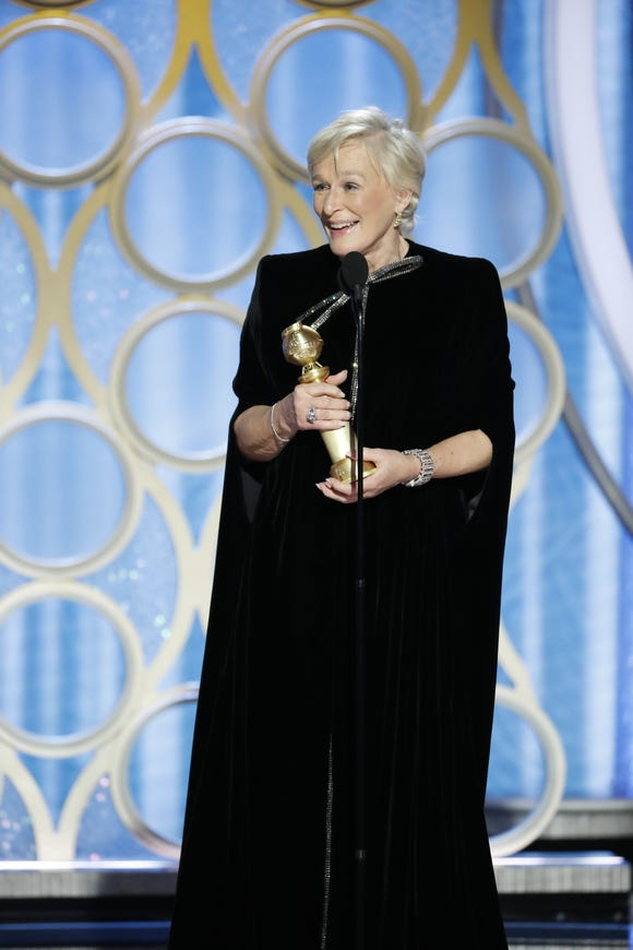 Glenn Close, winner of Best Actress - Motion Picture, Drama during the 76th Golden Globe Awards at the Beverly Hilton.