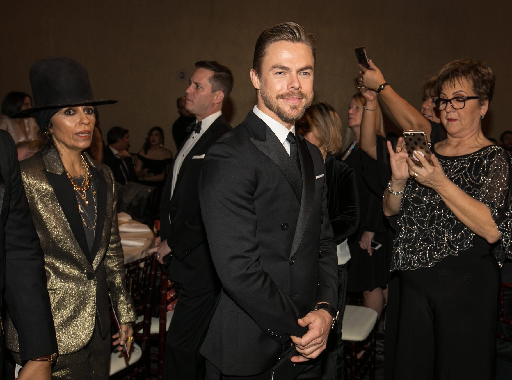 """World of Dance"" judge Derek Hough looks sharp in a tux."