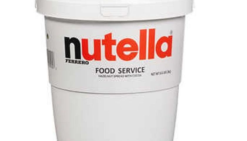 Costco is selling a 7-pound bucket of Nutella, and we are here for it