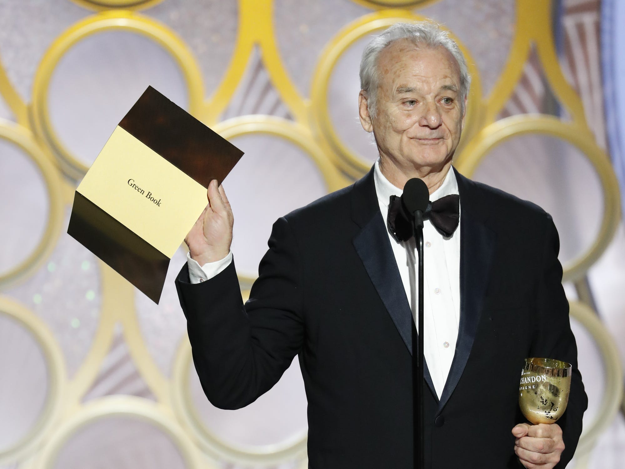 Bill Murray presents during the 76th Golden Globe Awards.