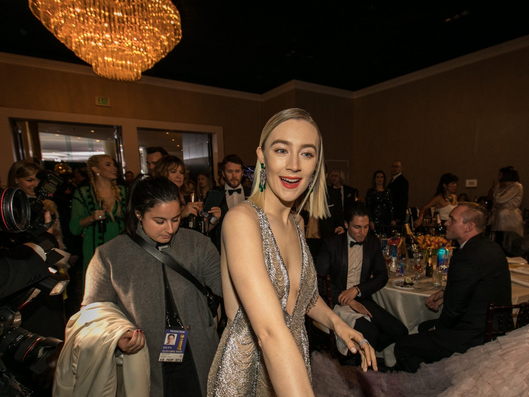 Jan 6, 2019; Beverly Hills, CA, USA; Saoirse Ronan arrives during the 76th Golden Globe Awards in the International Ballroom at the Beverly Hilton. Mandatory Credit: David Sprague-USA TODAY (Via OlyDrop)
