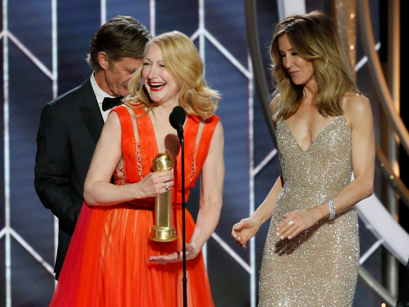 Patricia Clarkson, accepts the award for Best Supporting Actress - Series/Limited Series/TV Movie during the 76th Golden Globe Awards.