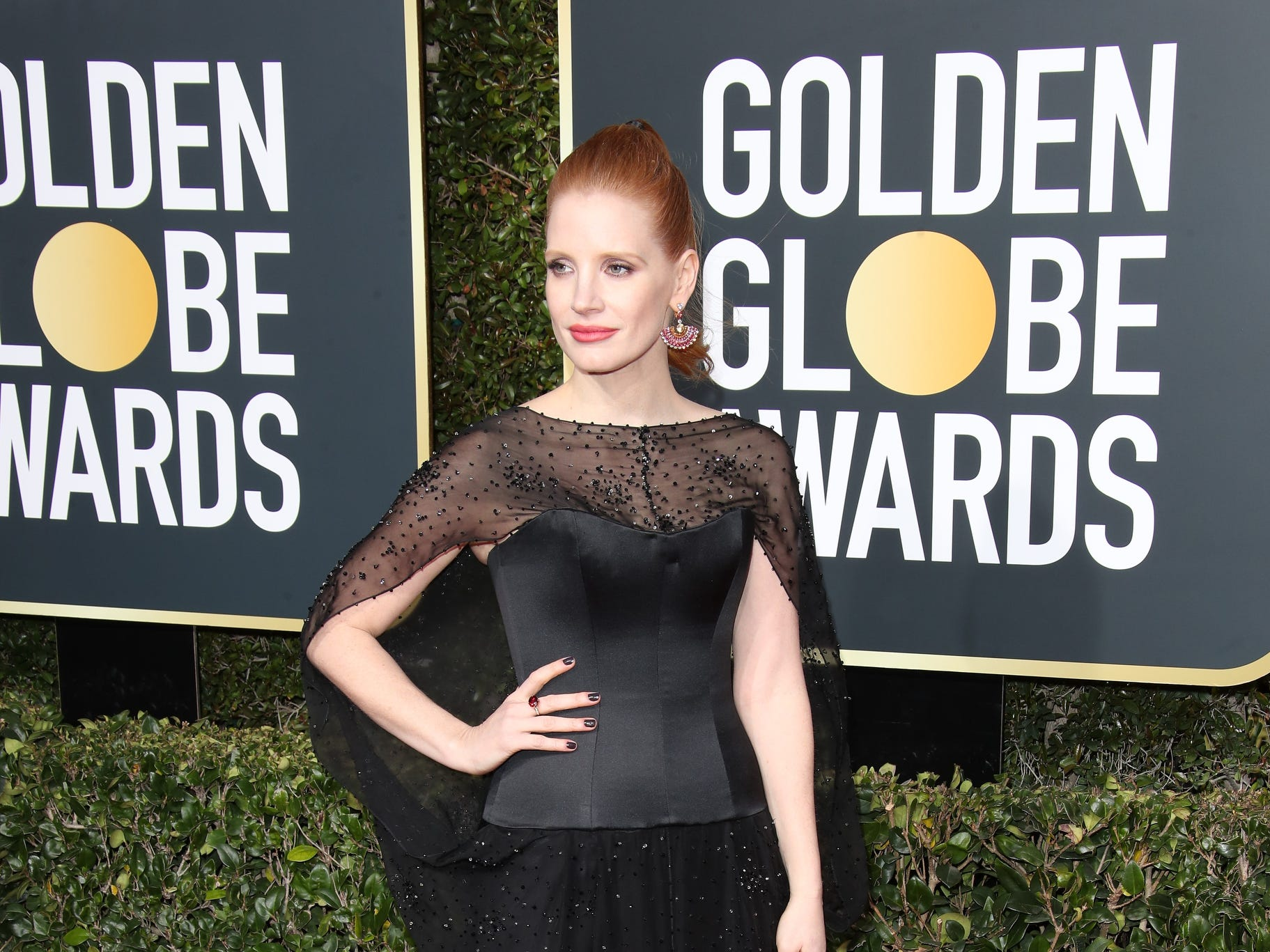 Jessica Chastain arrives.