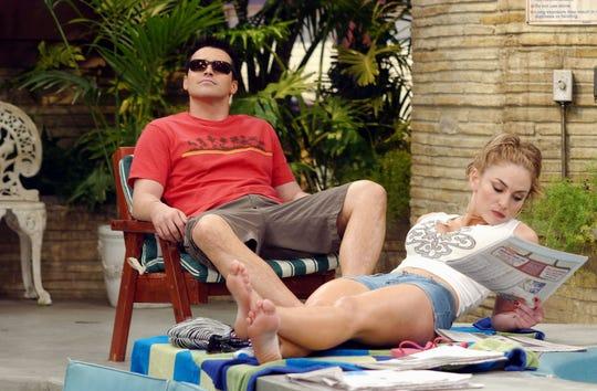 "Matt LeBlanc as Joey Tribbiani, Drea De Matteo as Gina on ""Joey."""