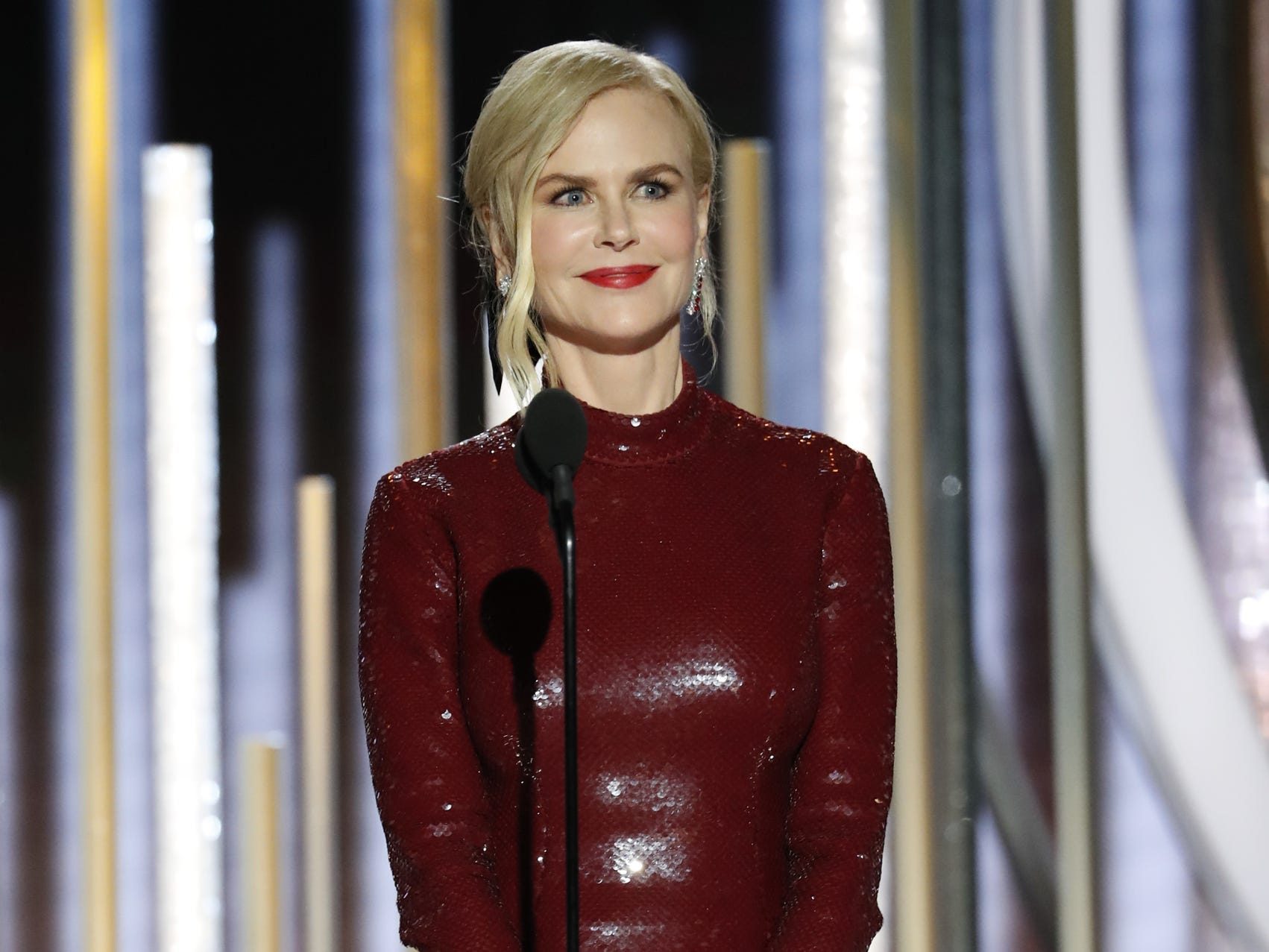Nicole Kidman presents during the 76th Golden Globe Awards.