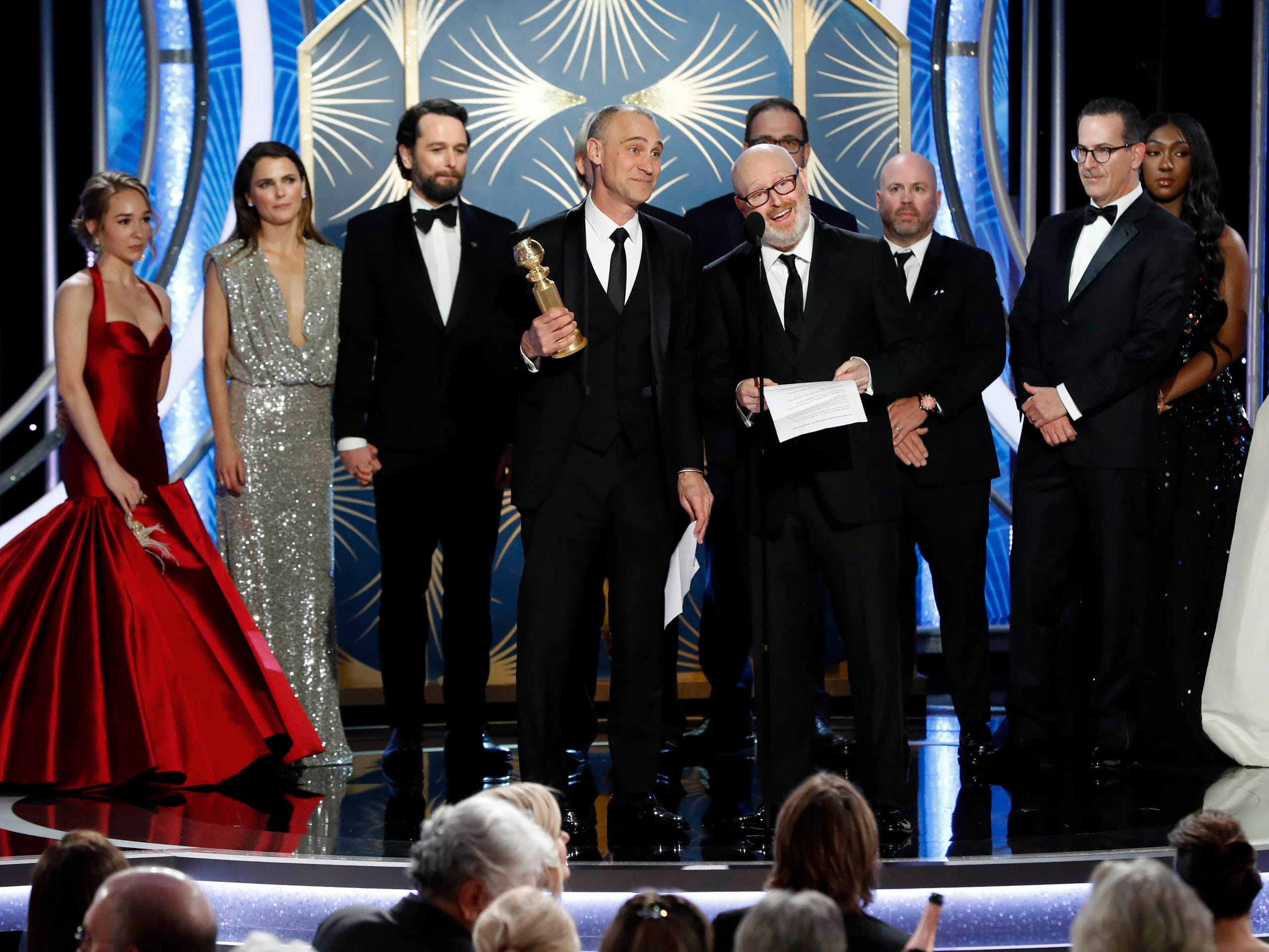 Joe Weisberg, accepts the of Best TV Series, Drama for The Americans during the 76th Golden Globe Awards.