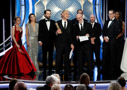Creator Joe Weisberg accepts the of Best TV Series, Drama award for The Americans at the 76th Golden Globe Awards.
