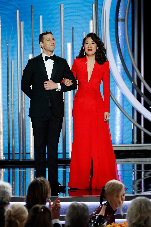 Golden Globes 2019: Sandra Oh and Andy Samberg charm awkwardly;  Carol Burnett amazes