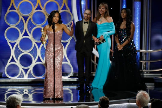 Regina King, winner of Best Supporting Actress - Motion Picture during the 76th Golden Globe Awards.