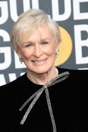 """A visibly shocked Glenn Close won best actress in a drama for """"The Wife."""""""