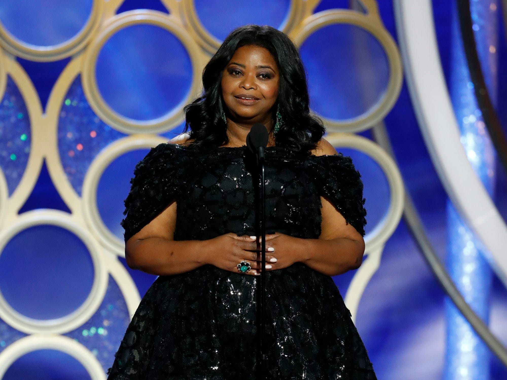 Octavia Spencer speaks on stage during the 76th Golden Globe Awards.