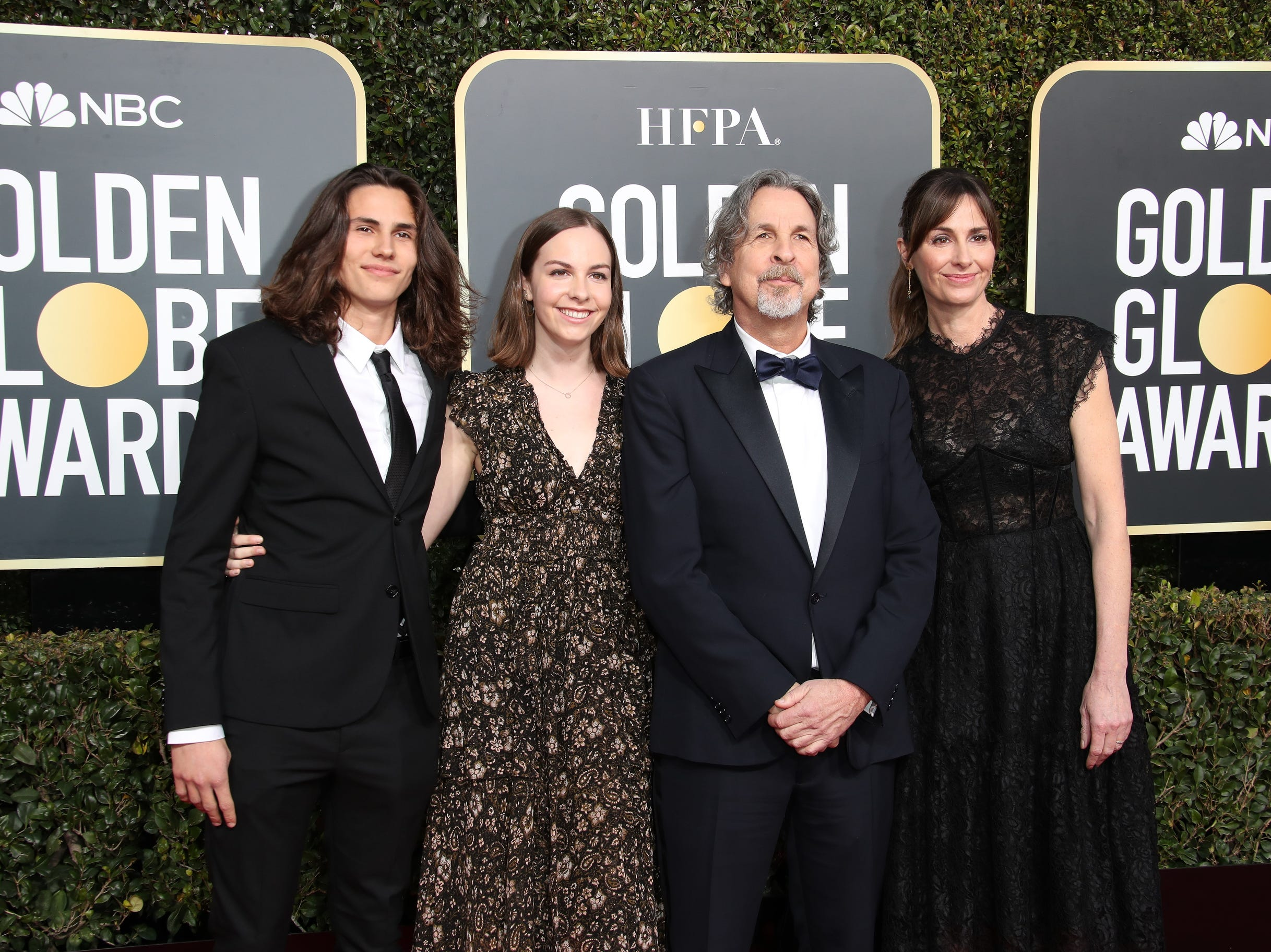 Peter Farrelly (2nd R) and Melinda Kocsis (R)