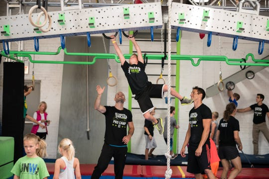 You'll feel like you're on the set of a televised competition at Ultimate Ninjas, a small chain of gyms with locations in the Chicago area and St. Louis.