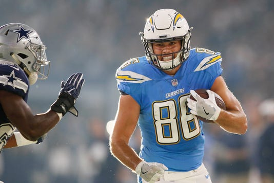 Hunter Henry Could Make Debut For Chargers Vs. Patriots