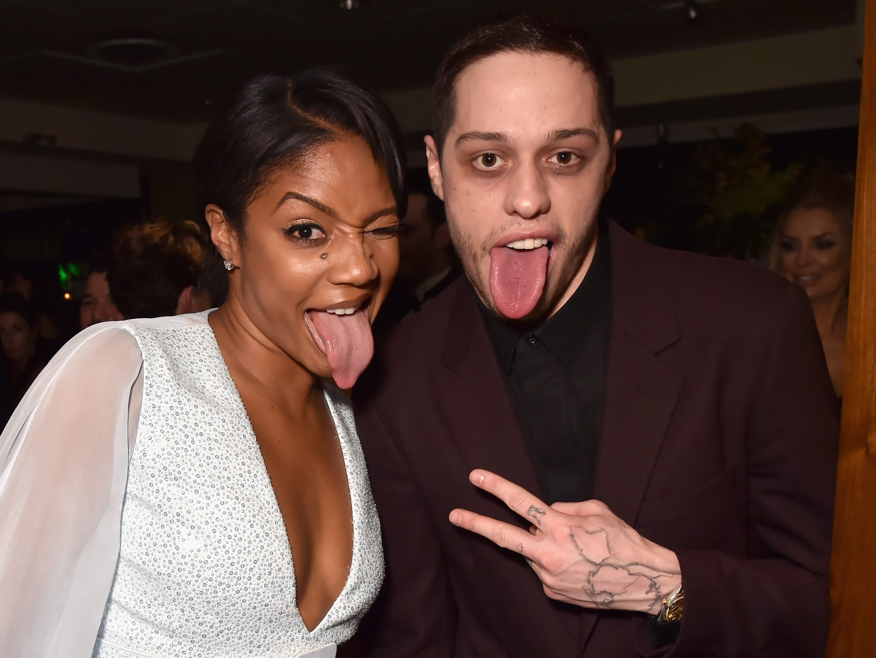 LOS ANGELES, CA - JANUARY 06: Tiffany Haddish (L) and Pete Davidson attend HBO's Official 2019 Golden Globe Awards After Party on January 6, 2019 in Los Angeles, California.  (Photo by Jeff Kravitz/FilmMagic for HBO) ORG XMIT: 775268379 ORIG FILE ID: 1078573724