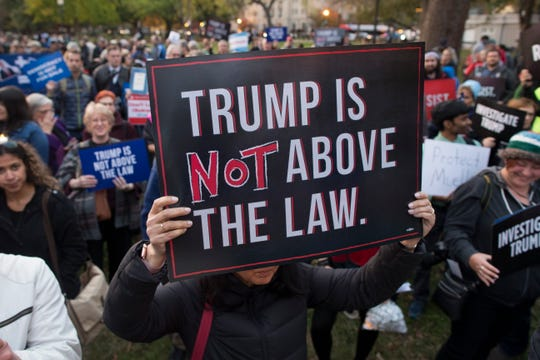 A protest in Washington, D.C., on Nov. 8, 2018.