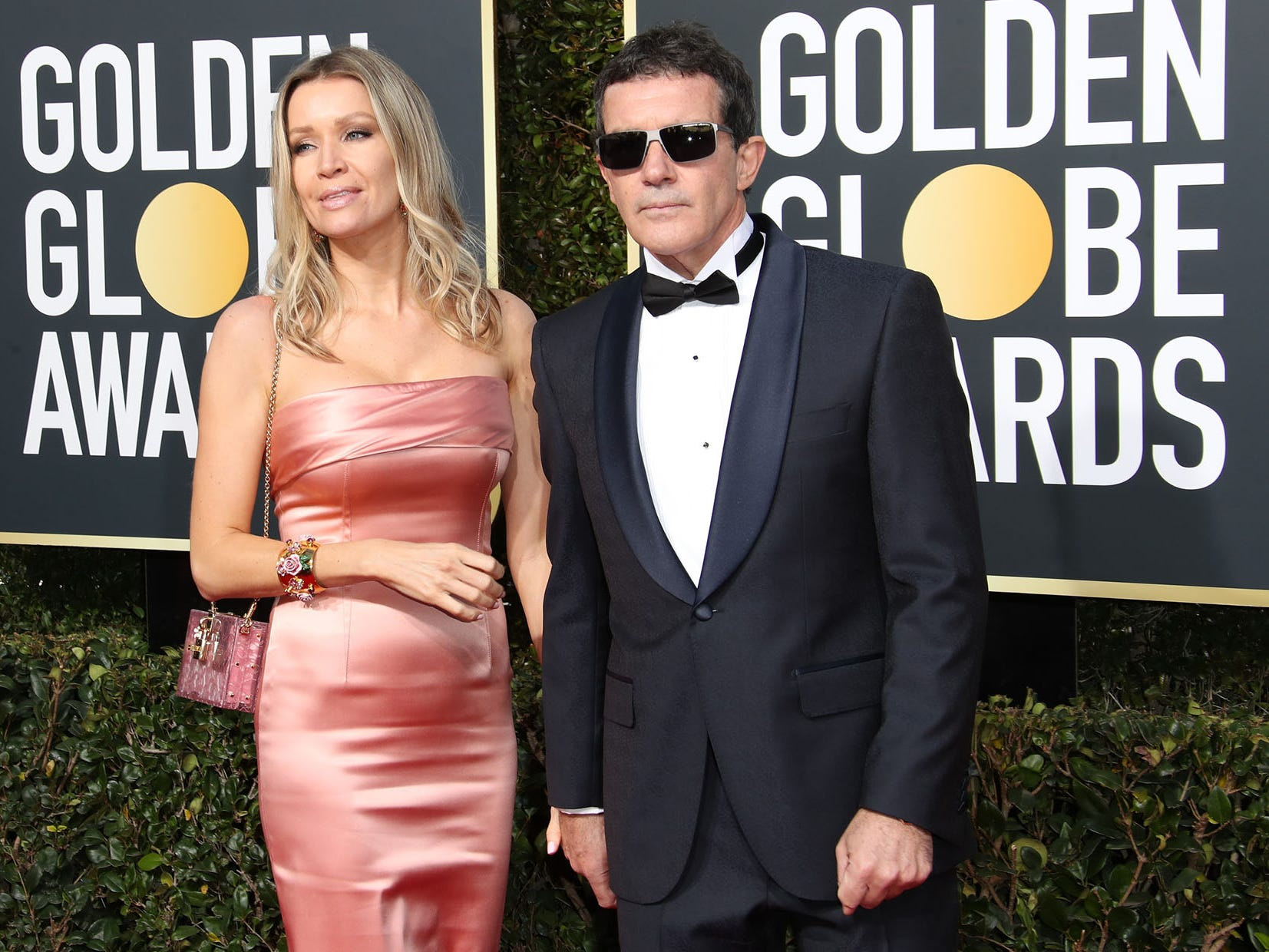 Nicole Kimpel, left and Antonio Banderas