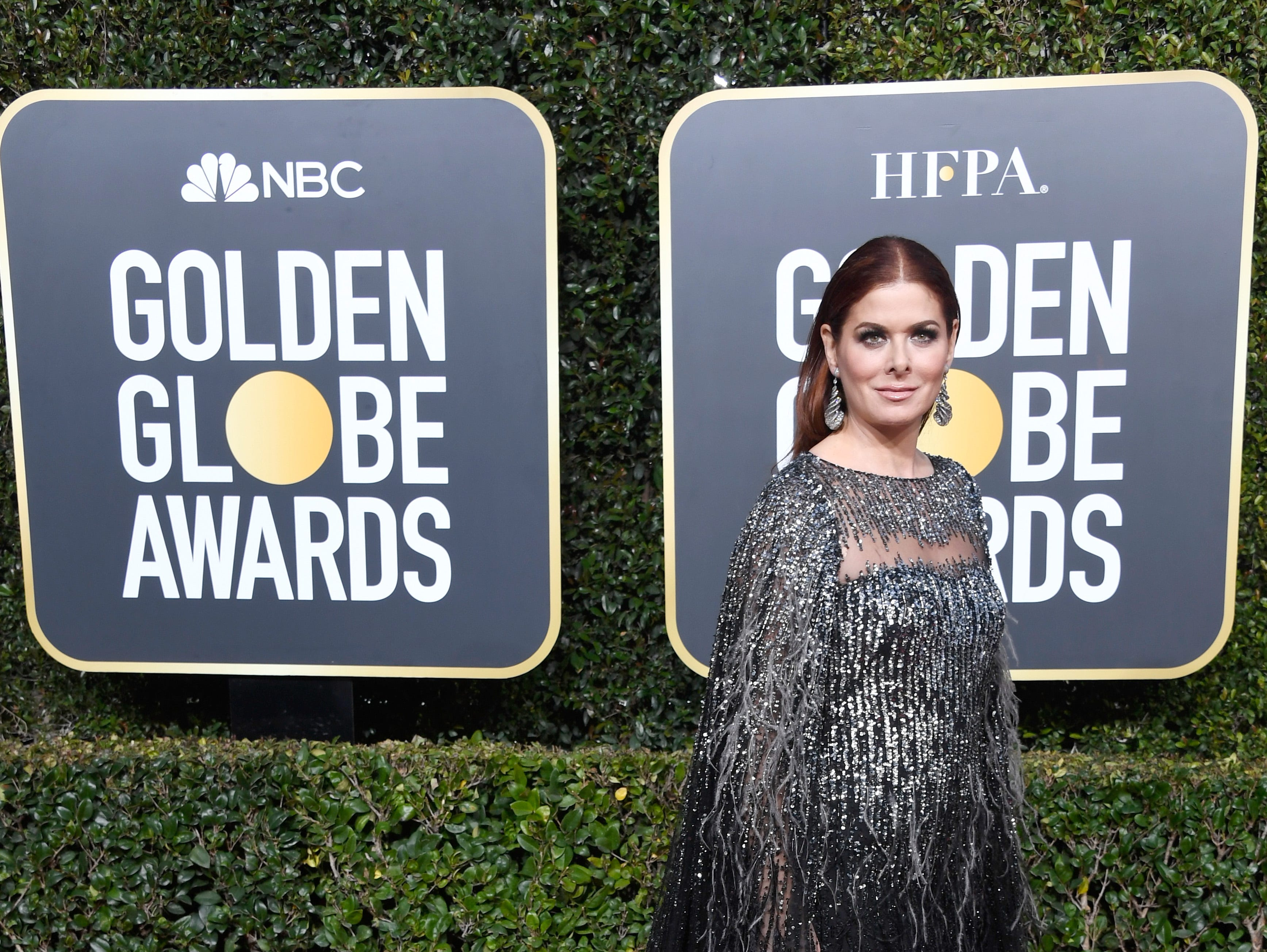 BEVERLY HILLS, CA - JANUARY 06:  Debra Messing attends the 76th Annual Golden Globe Awards at The Beverly Hilton Hotel on January 6, 2019 in Beverly Hills, California.  (Photo by Frazer Harrison/Getty Images) ORG XMIT: 775278352 ORIG FILE ID: 1078336822