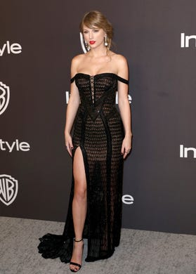Taylor Swift arrives at the InStyle and Warner Bros. Golden Globes afterparty at the Beverly Hilton Hotel on Sunday, Jan. 6, 2019, in Beverly Hills, Calif. (Photo by Matt Sayles/Invision/AP) ORG XMIT: CAPM723
