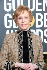 Carol Burnett accepted the inaugural Carol Burnett Award for television achievement at the Golden Globes.