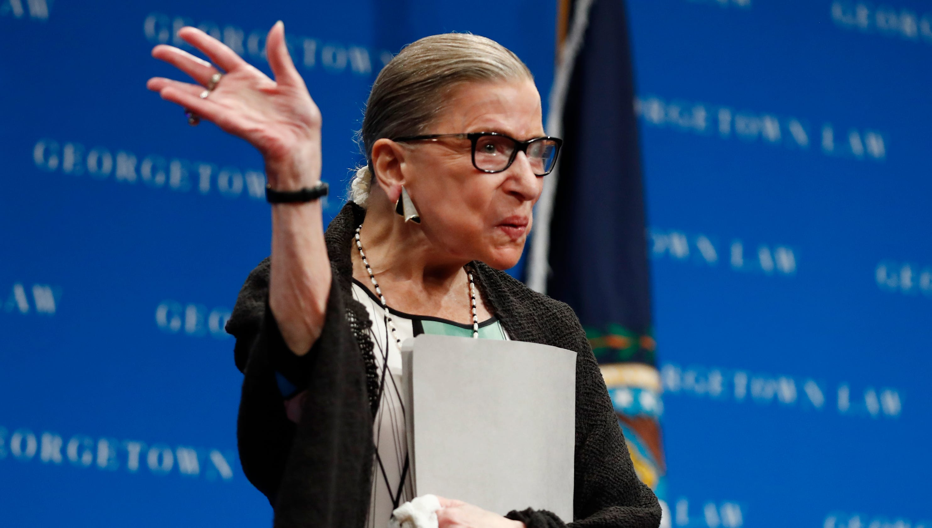 Justice Ginsburg recovery 'on track,' but she will work from home next week