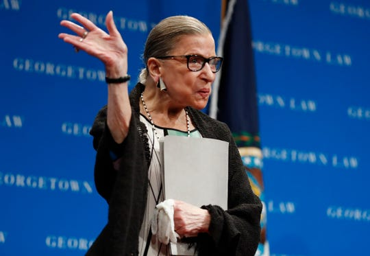 Supreme Court Justice Ruth Bader Ginsburg was absent from court Monday for health reasons, marking the first such time in her 25-year career.