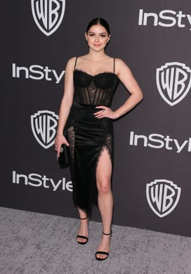 US actor Ariel Winter arrives for the Warner Bros. and In Style 20th annual post Golden Globes party at the Oasis Courtyard of the Beverly Hilton hotel in Beverly Hills on January 6, 2019. (Photo by Jean-Baptiste LACROIX / AFP)JEAN-BAPTISTE LACROIX/AFP/Getty Images ORG XMIT: Warner Br ORIG FILE ID: AFP_1C137S