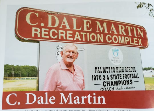 The C. Dale Martin Recreation Complex is one of two sports facilities in Williamston named after Martin.