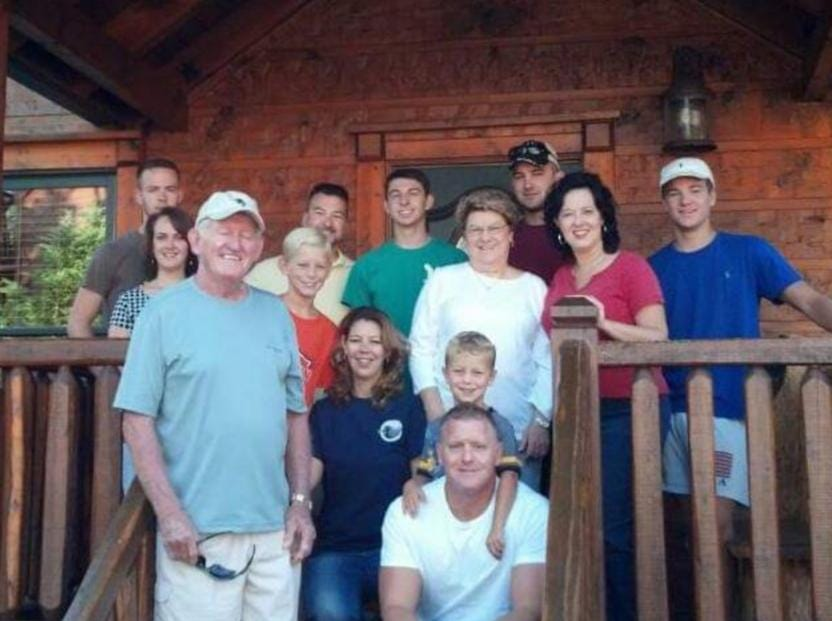 C. Dale Martin and his wife, Carol, with generations of family. Martin is survived by four children, eight grandchildren and four great-grandchildren, according to his obituary.