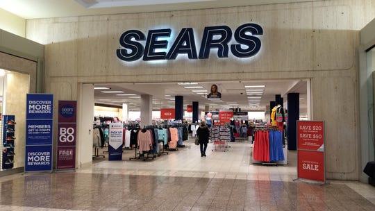 Sears in the Fox River Mall.
