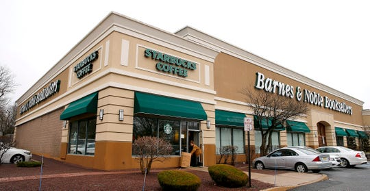 The Starbucks adjacent to the Barnes & Noble Booksellers on Route 9 at Park Avenue in Freehold Township is shown Tuesday, January 9, 2019.   The shop is scheduled to close at 9 p.m. on January 20.