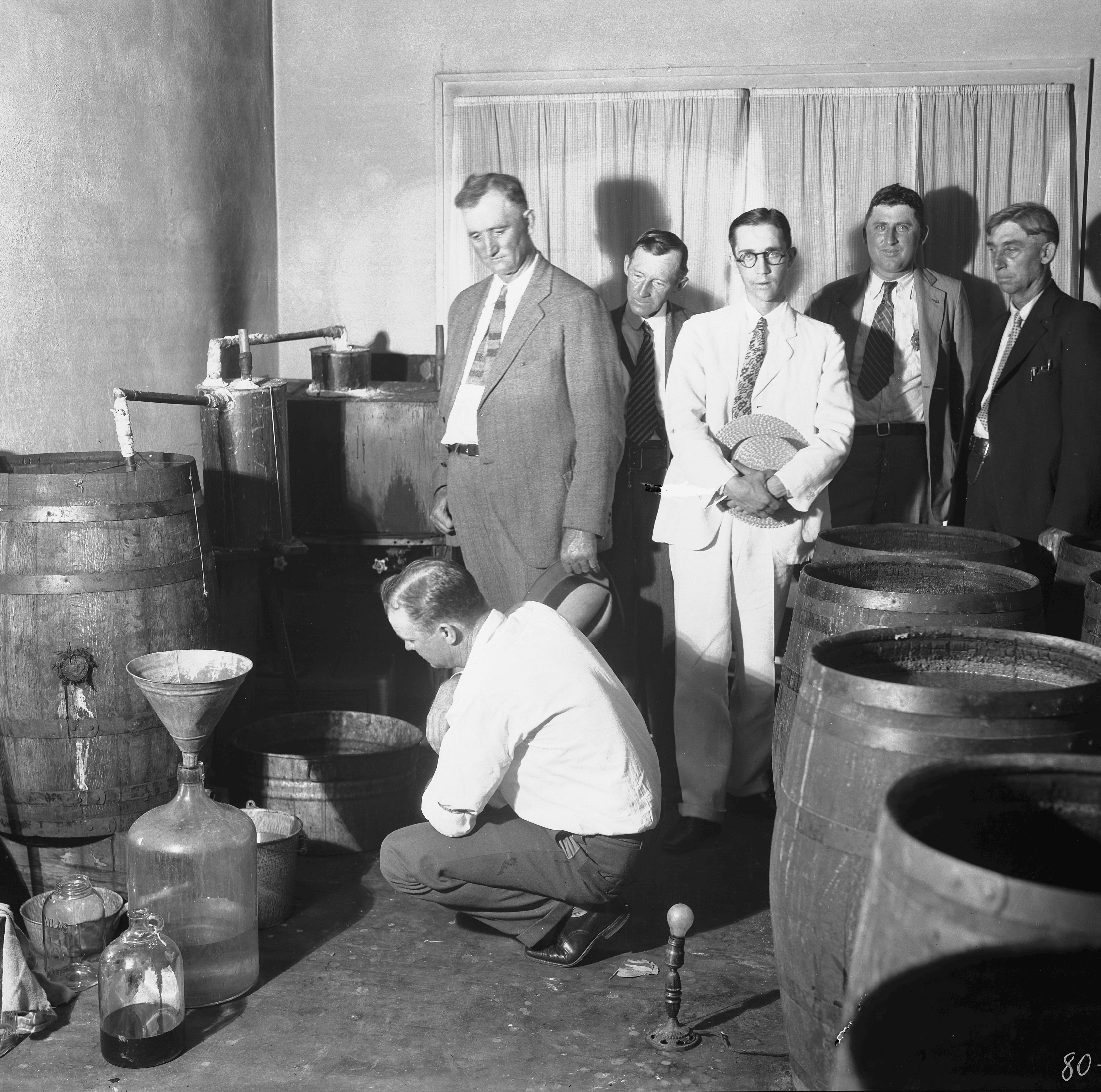 Portrait of the Past: North Asheville whiskey still, 1950s