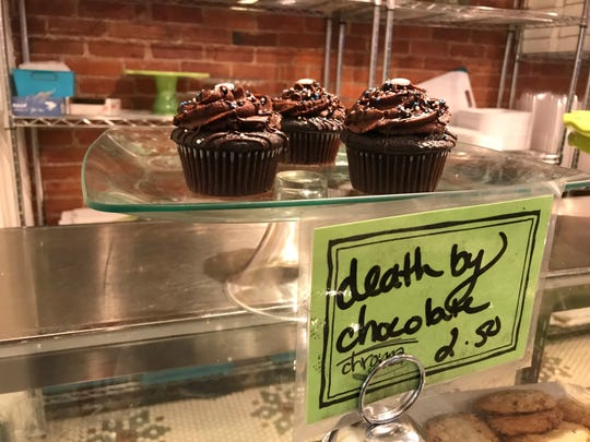 Death by chocolate cupcakes were on display at Chroma Cafe & Bakery in Downtown Binghamton on Jan. 7.