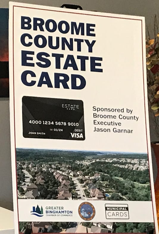 Poster advertising for the Broome County Estate Card program