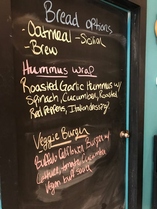 The specials served at Chroma Cafe & Bakery in Downtown Binghamton are written in chalk on the bakery's wall each day.