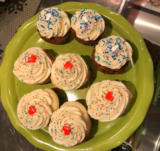 Vanilla cupcakes topped with vanilla buttercream frosting were on display at Chroma Cafe & Bakery in Downtown Binghamton on Jan. 7.