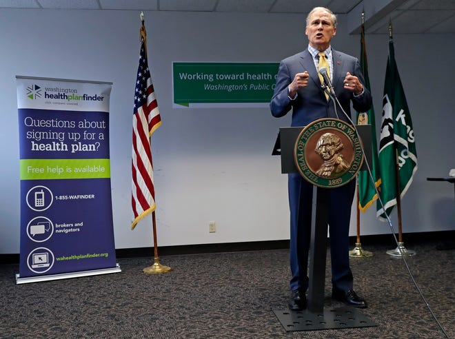 Washington Gov. Jay Inslee proposed a public health insurance option for Washington state residents, the latest action by a Democratic governor to address Trump administration health policies they say are keeping people from getting the care they need.