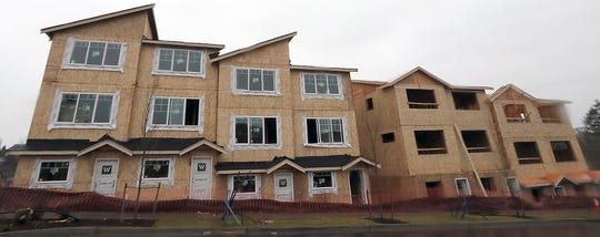 Townhouses under construction on Schley Blvd in Bremerton on Tuesday, January 8, 2019.